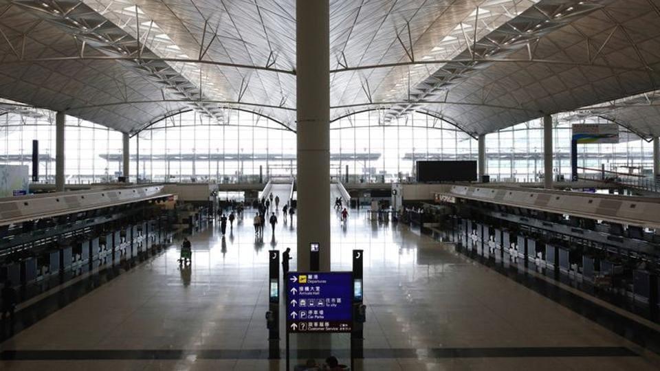 A general view of Hong Kong International Airport in Hong Kong, China.