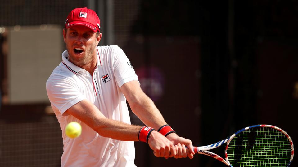 Tennis - ATP Masters 1000 - Italian Open - Foro Italico, Rome, Italy - September 15, 2020 Sam Querrey of the U.S. in action during his first round match against Spain's Pedro Martinez Portero Pool via REUTERS/Clive Brunskill