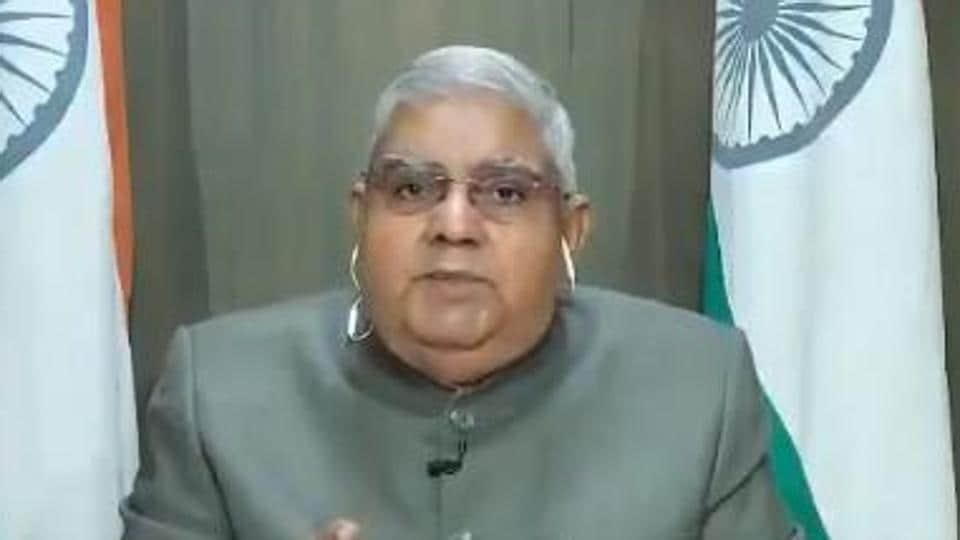 File photo of West Bengal Governor Jagdeep Dhankhar. (Videograb)
