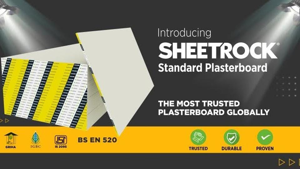 SHEETROCK is recognized as the leading brand in innovation, quality, and effectiveness.