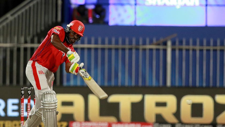 Chris Gayle scored a fifty.