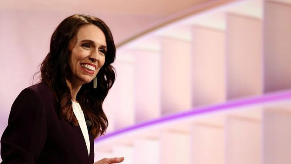New Zealand Prime Minister Jacinda Ardern participates in a televised debate with National leader Judith Collins at TVNZ in Auckland, New Zealand.