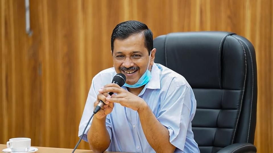 Delhi chief minister Arvind Kejriwal at a meeting on October 14.