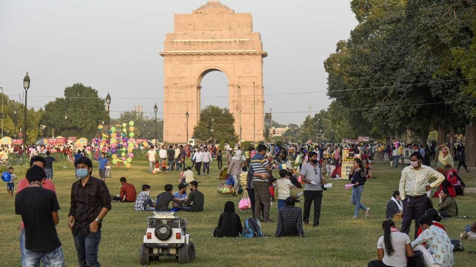 At India Gate, New Delhi. Of the two hours and 10 minutes spent on a bunch of activities which can be described as socialising and the proverbial 'adda', Indians spend at least one-and-a-half hours talking or chatting, according to the data.