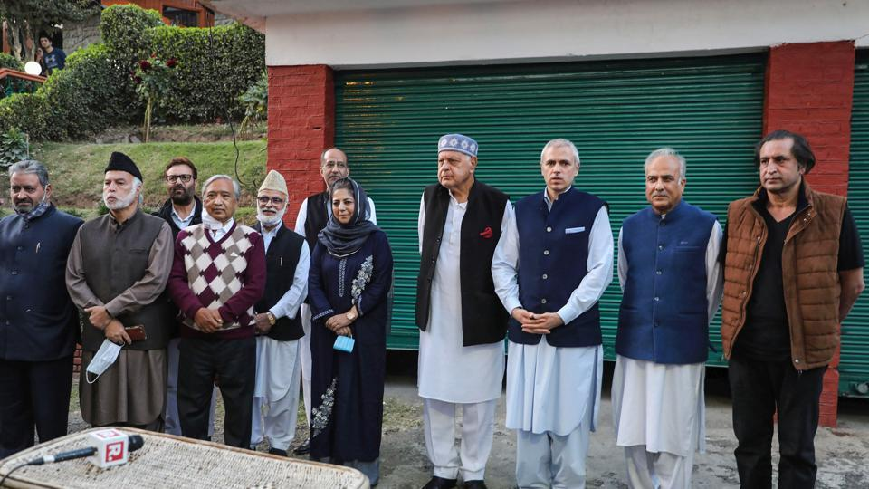 Thursday's meeting was the first major political event involving all major players in Kashmir since almost all of the Valley's political leadership was detained hours before the region's special status was revoked in 2019.