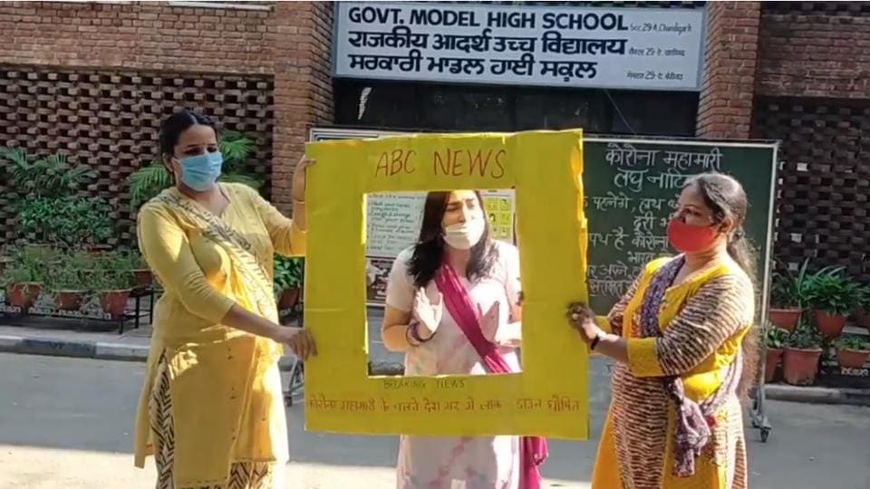 Teachers of Government Model High School, Sector 29-A, Chandigarh, have turned to nukkad natak (street plays) to reach out to students and sensitise them about Covid-19 safety guidelines.