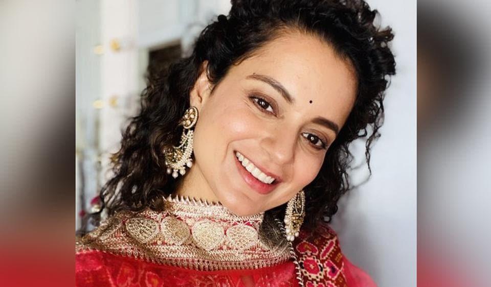 Kangana Ranaut shared pictures from her Navratri celebrations.