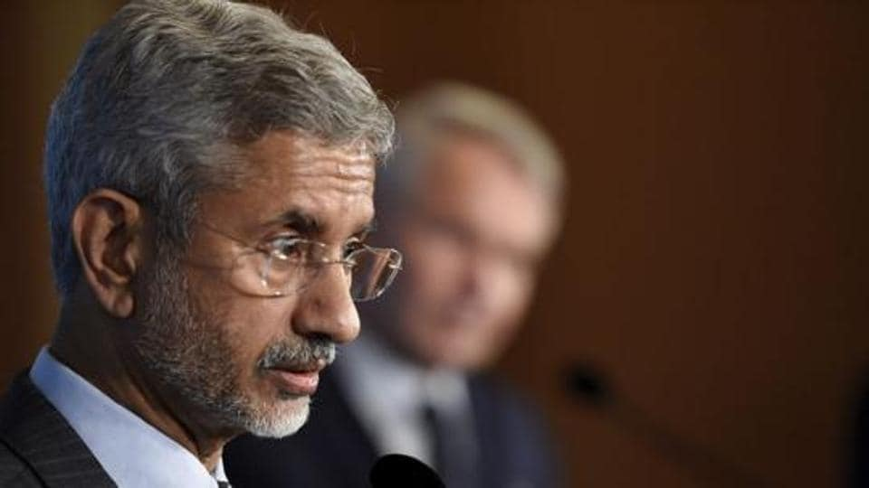 Minister of external affairs S Jaishankar during a news conference in Helsinki, Finland in September 2019.