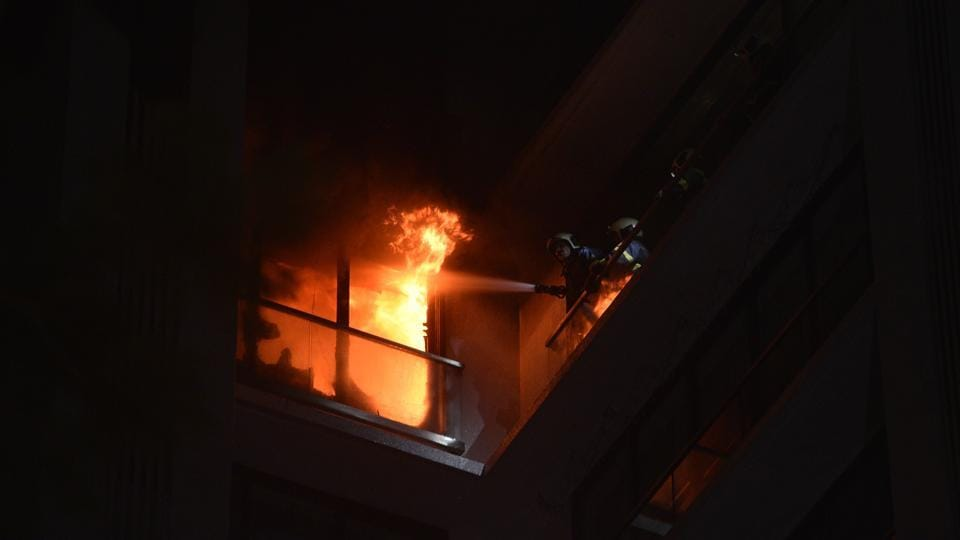 The blaze had been brought under control by little after Friday midnight.