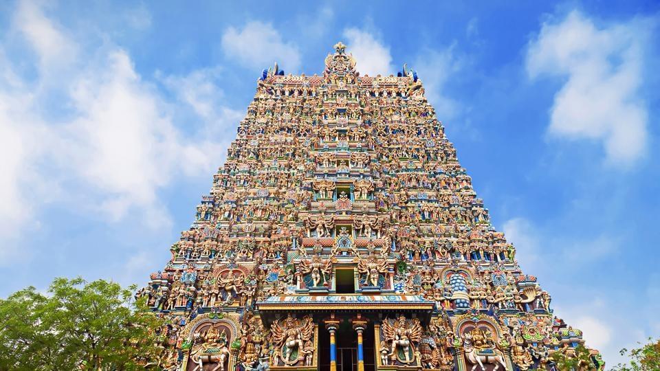Meenakshi Temple, Madurai, Tamil Nadu, India.