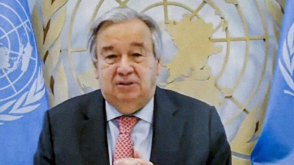 Antonio Guterres also criticised countries for a lack of unity in trying to solve other global challenges including the conflicts in Afghanistan, Yemen and Syria.