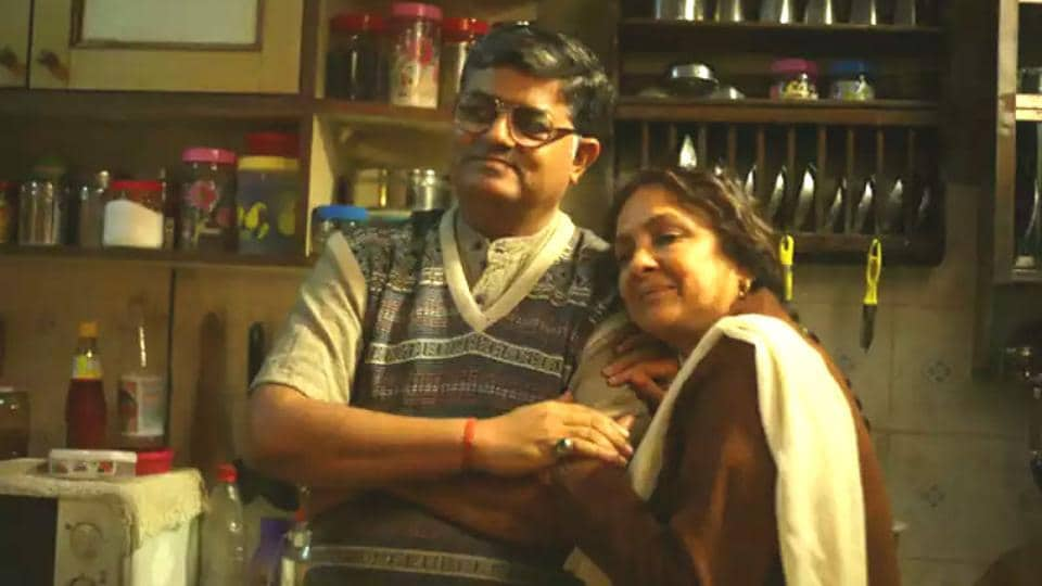 Gajraj Rao with Neena Gupta in a still from Badhaai Ho.