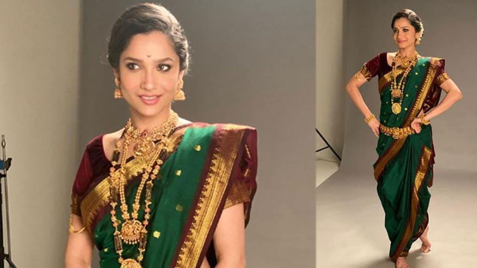 Ankita Lokhande in a Marathi bridal avatar.