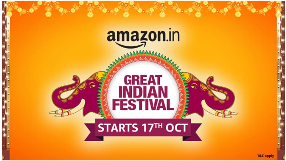 At the Amazon's Great Indian Festival, customers  have the opportunity to shop for unique products from thousands of Amazon sellers and enjoy deals/offers extended by lakhs of small businesses.