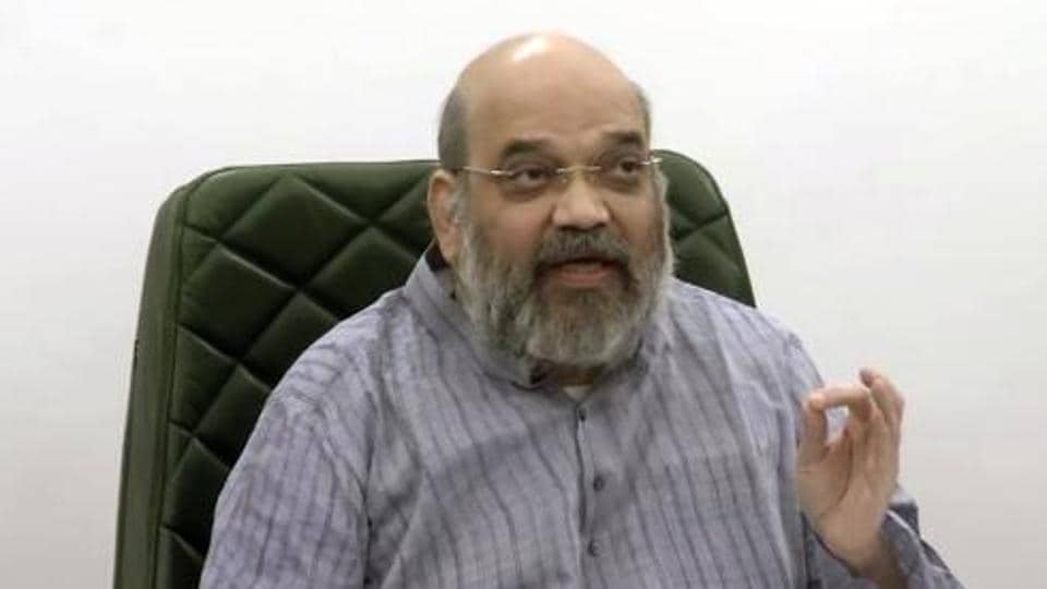 Union home minister Amit Shah is seen in this file photo.  Shah has said the government is taking all possible military and diplomatic steps to resolve the ongoing border standoff in Ladakh with China.