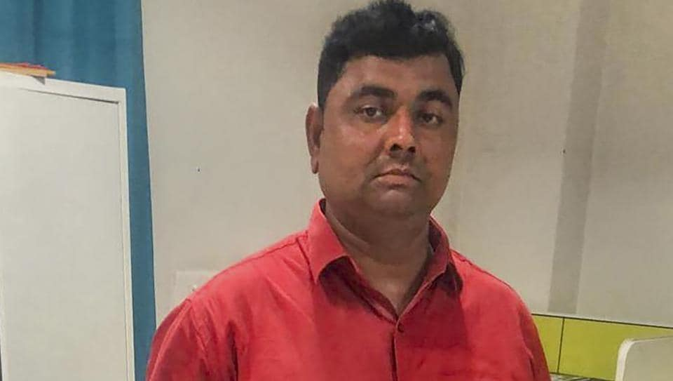 Dhirendra Singh, the main accused of the Ballia incident, was arrested in Lucknow on Sunday.