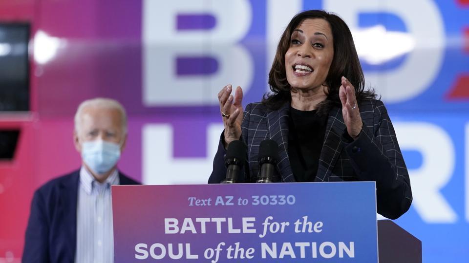 Democratic vice presidential candidate Senator Kamala Harris.