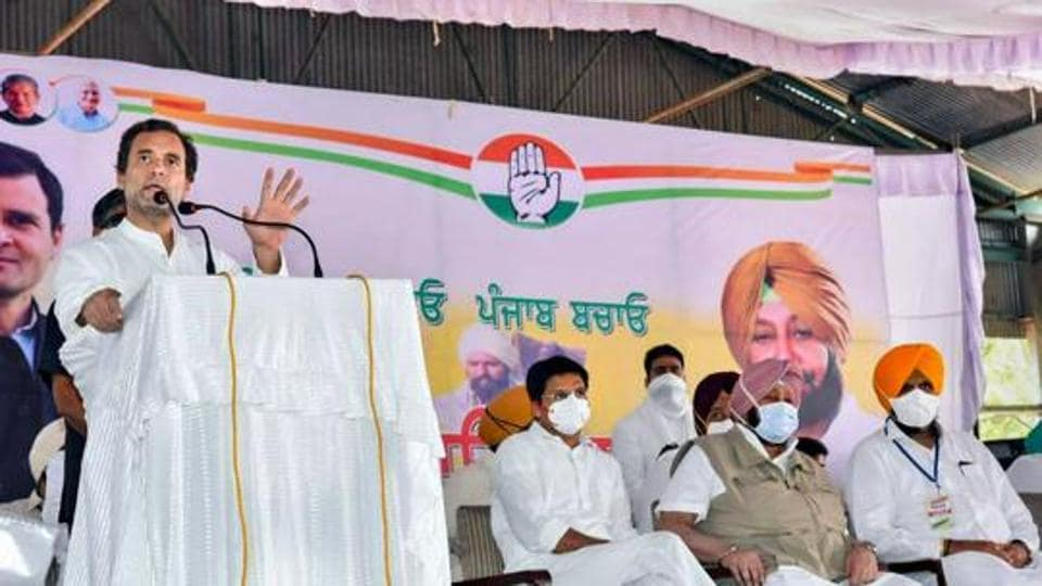 """Referring to his """"tractor rallies"""" against the laws during his recent visit to Punjab and Haryana, Gandhi said, """"I came to Punjab and Haryana a few days ago and every farmer and labourer knows that these three laws are an attack on them."""""""