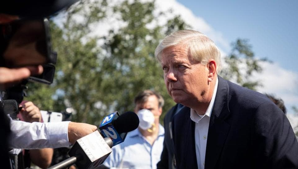 With his position at risk, the 65-year-old Graham campaigned Friday in the Palmetto State, stepping off a campaign bus bearing a larger-than-life image of the senator, only to highlight how he is being outspent by Harrison, who raised a staggering record $57 million in the third quarter.