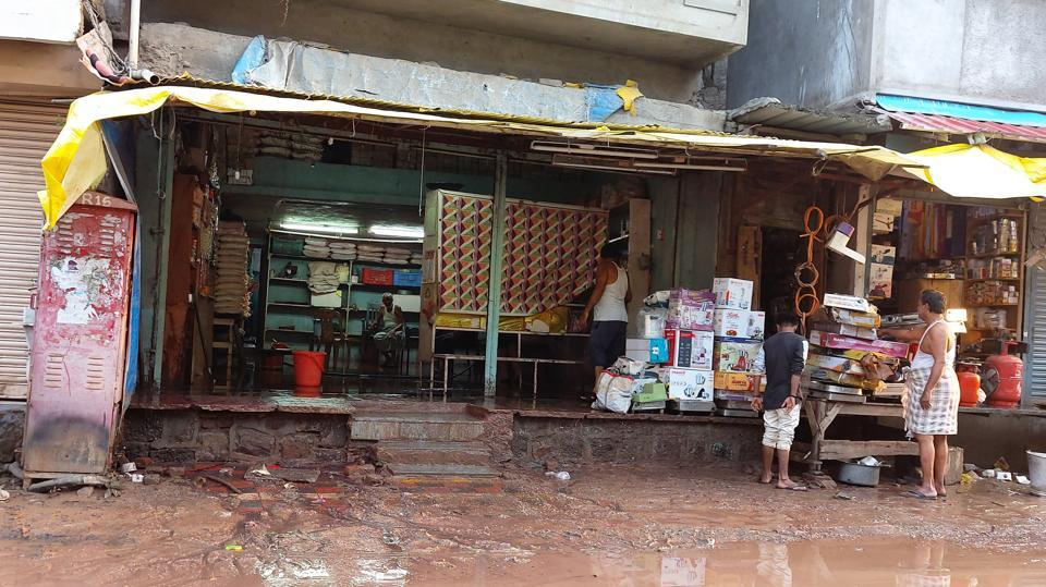 Most of the traders and shop owners had started preparations for Diwali and filled up goods at their shops.