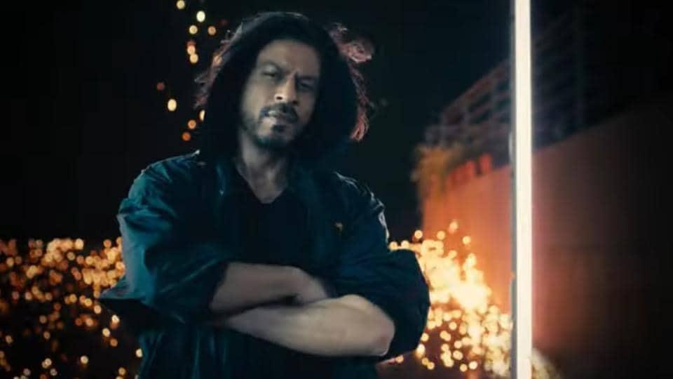 Shah Rukh Khan in a still from KKR fan anthem, Laphao.
