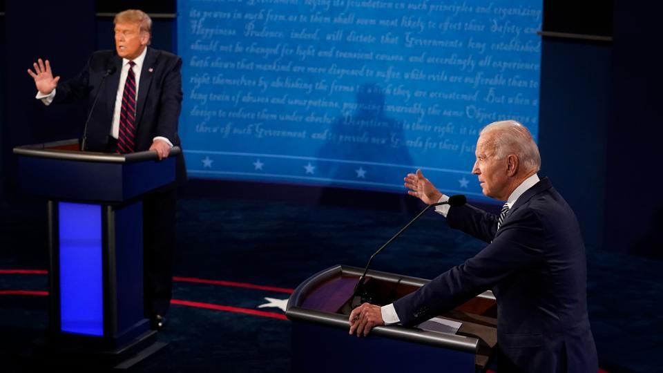 In Picture - President Donald Trump and Democratic presidential nominee Joe Biden speak during the first presidential debate.