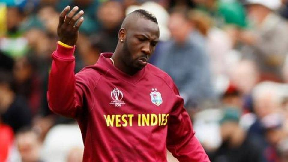 West Indies' Andre Russell.