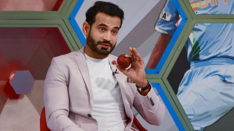 Irfan Pathan while announcing his retirement from all forms of cricket at a programme, in Mumbai.