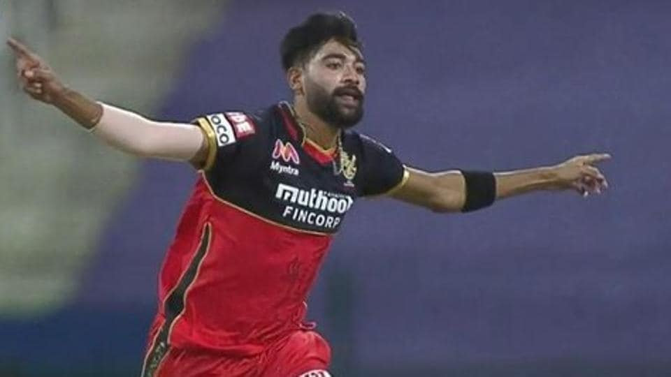 Photo of Mohammed Siraj from 39th IPL 2020 match between RCB & KKR