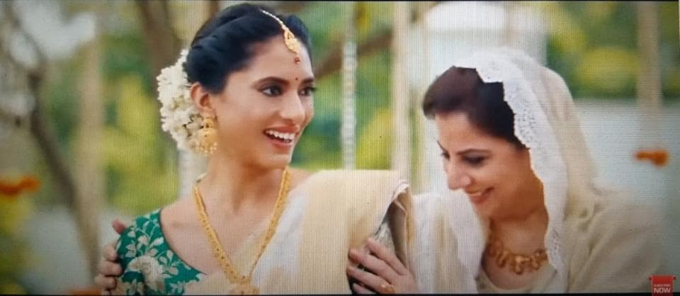 The Tanishq ad that created a furore for its depiction of a happy interfaith family.