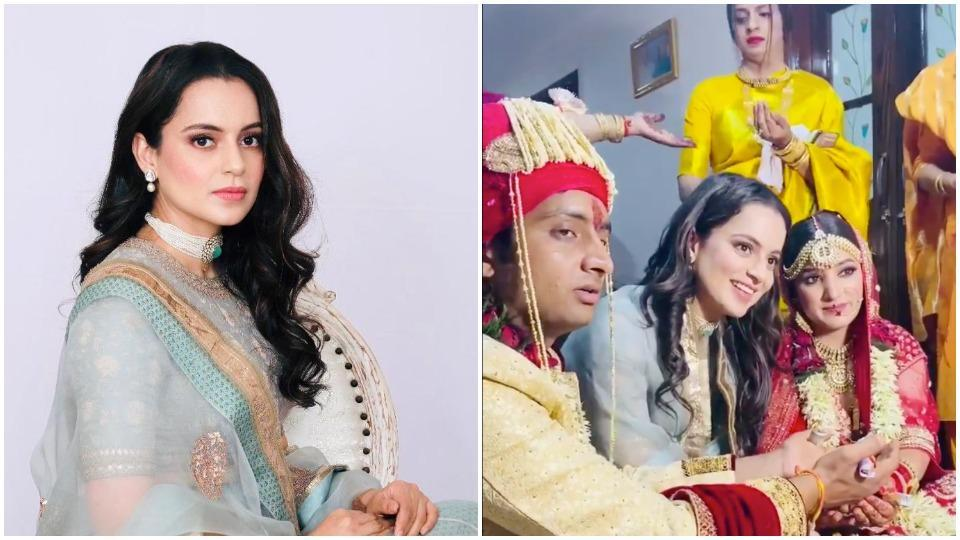 Kangana Ranaut is at her cousin's wedding.