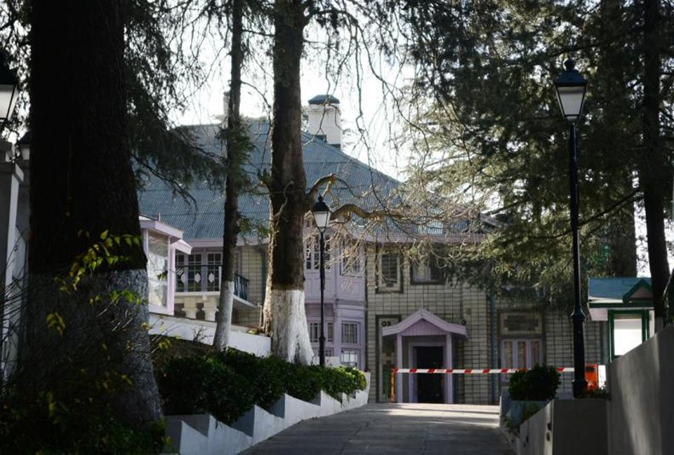 Oakover, a British-era building, that is the official residence of Himachal Pradesh chief minister Jai Ram Thakur in Shimla.