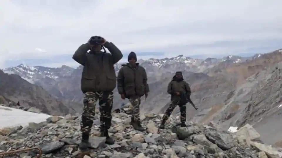 Indian troops are tracking the movement of troops across the Line of Actual Control in China.
