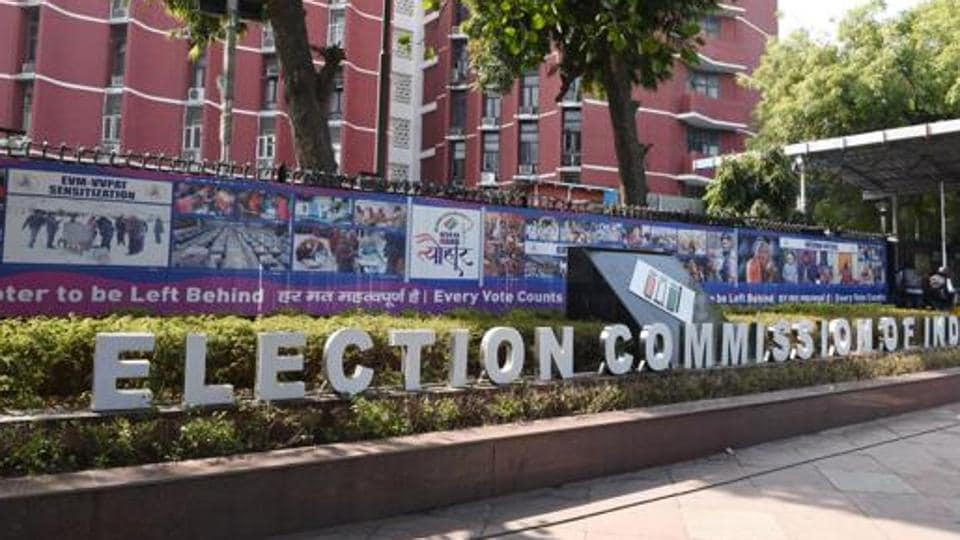 A view of the Election Commission of India building in New Delhi.