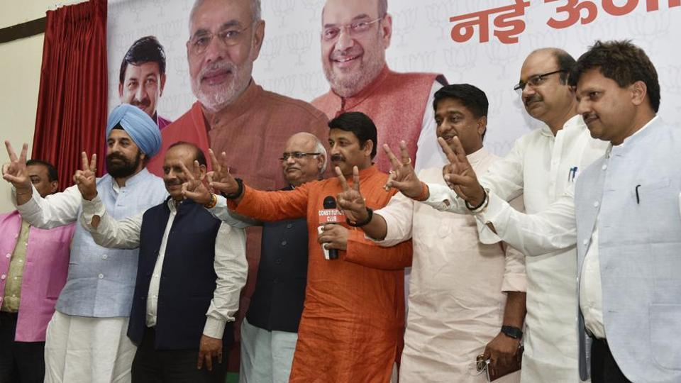 Manoj Tiwari  reprised one of his chartbusters, appealing to voters to retain their trust in the state's ruling dispensation