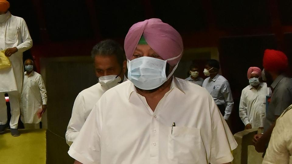 Punjab Chief Minister Capt Amarinder Singh on the first day of a special session of State Assembly in Chandigarh on Monday.