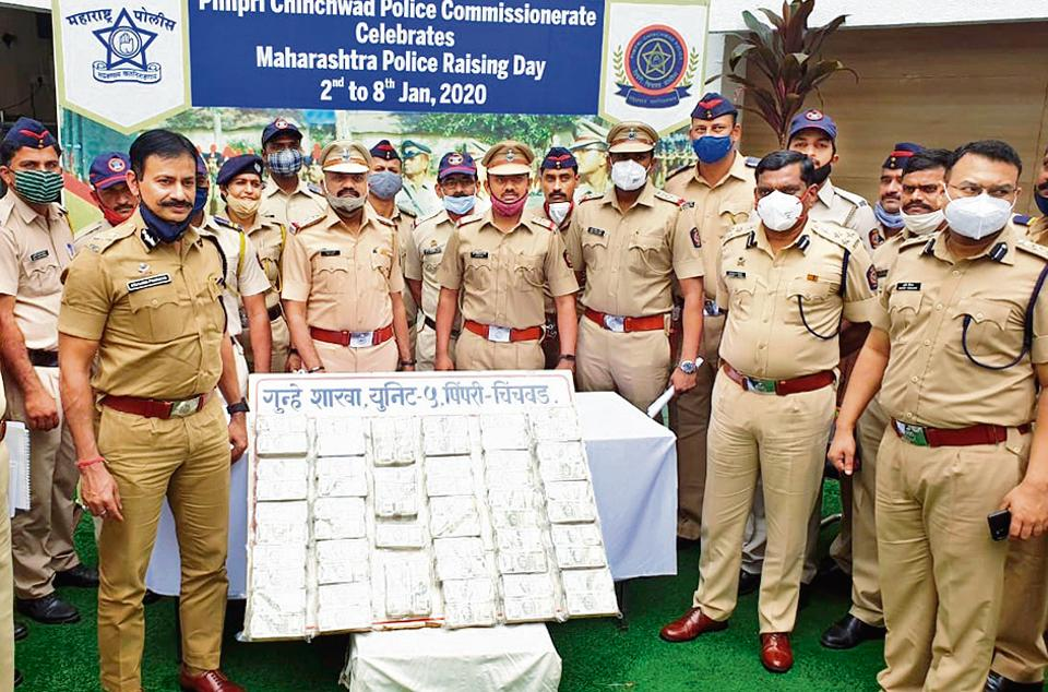 Rs85 lakh cash seized by Pimpri-Chinchwad cops from accused arrested in drug case.