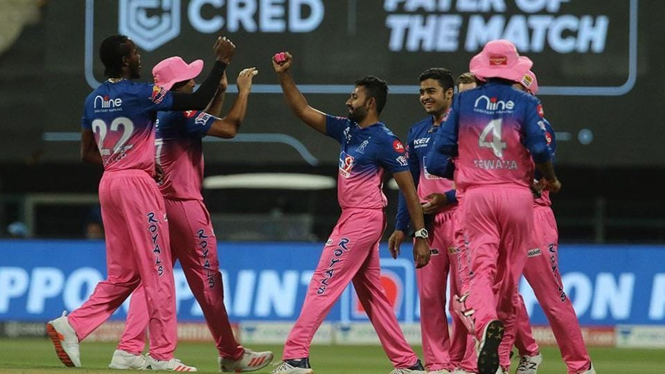 Poto of Rajasthan Royals team from an IPL2020 match in UAE