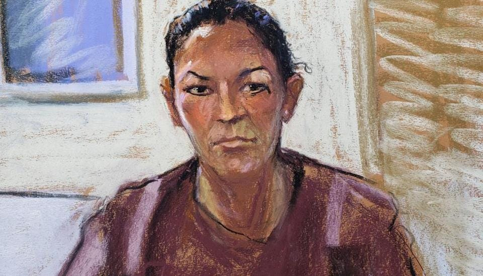 Ghislaine Maxwell appears via video link during her arraignment hearing in Manhattan Federal Court, in the Manhattan borough of New York City, New York, U.S. July 14, 2020 in this courtroom sketch.