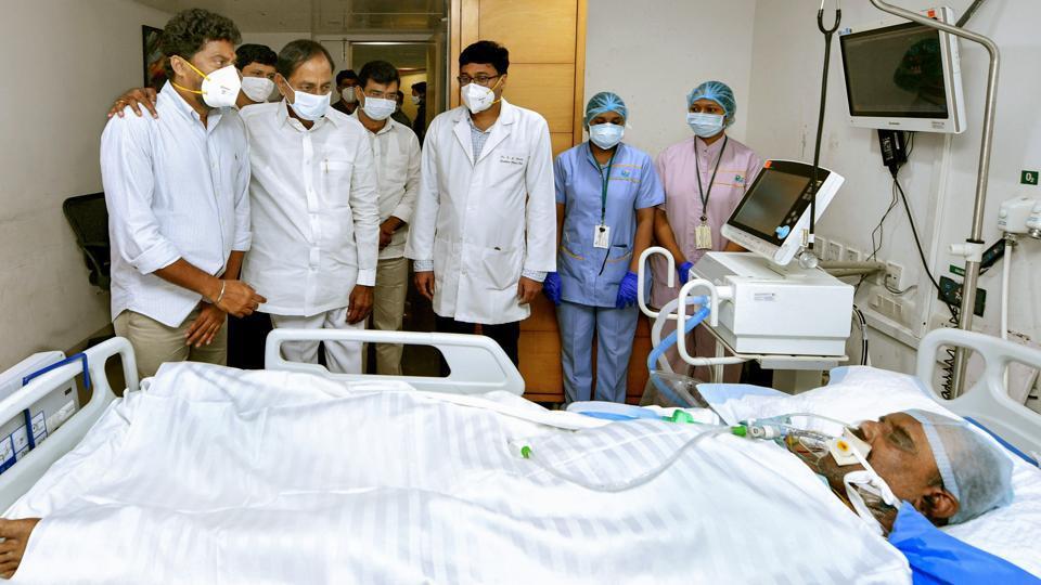 Telangana chief minister K Chandrashekhar Rao visited former home minister Nayini Narsimha Reddy at the hospital before he died.