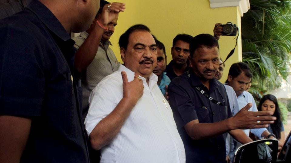 Khadse had been sulking since his unceremonious exit from Fadnavis government in 2016.