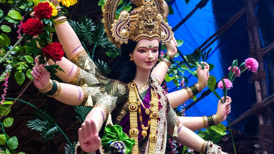 Artist in Assam creates Durga idol with expired medicines, injection vials