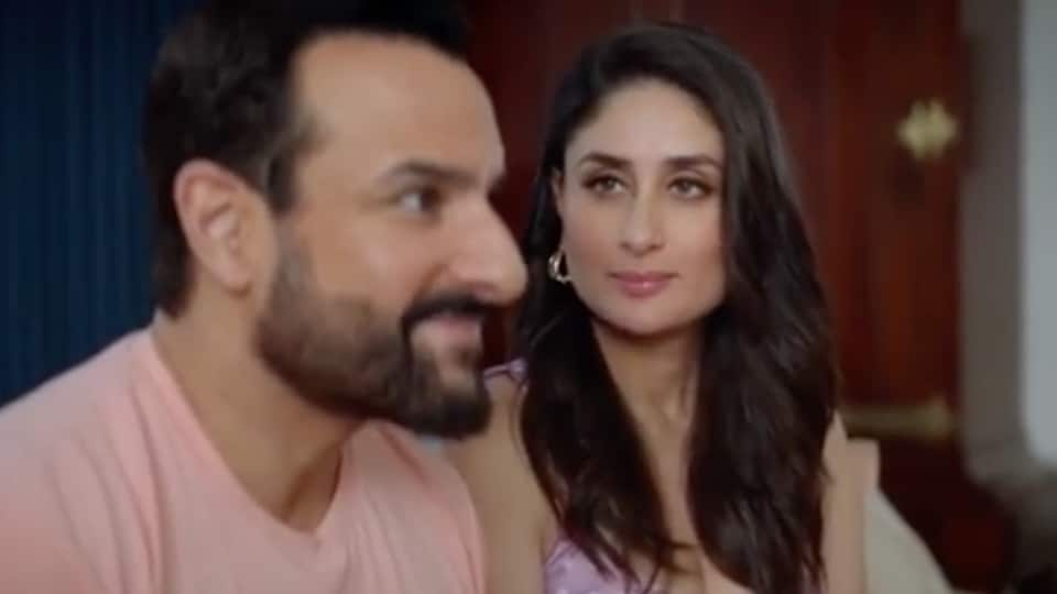 Kareena Kapoor says Saif Ali Khan had a relaxed reaction to news of her second pregnancy.