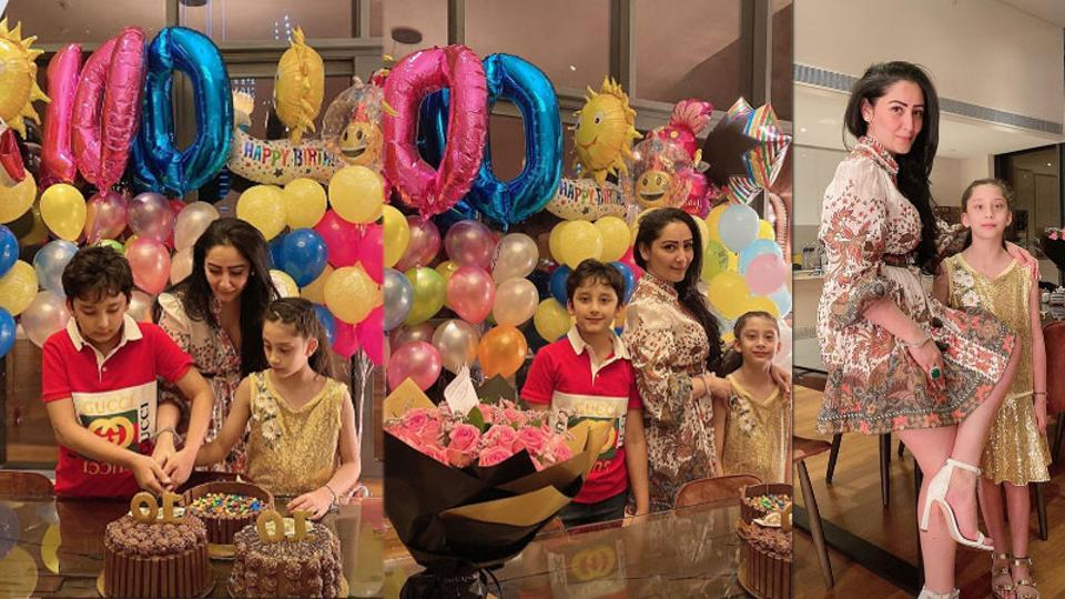 Maanayata Dutt has shared new pictures from her kids' birthday party.