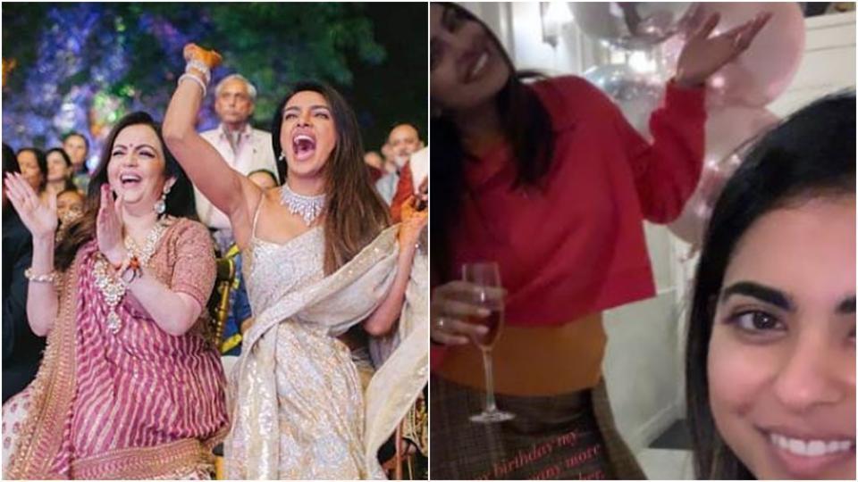 Priyanka Chopra, Alia Bhatt wish Isha and Akash Ambani on their birthday with adorable pics. See here