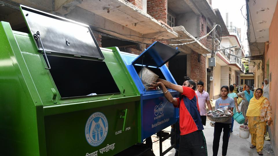 The new garbage collection vehicles are in use in Chandigarh.