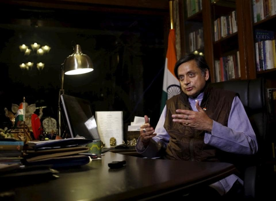 In Picture - Shashi Tharoor speaks during an interview with Thomson Reuters Foundation at his office in New  Delhi