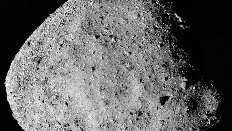 This mosaic image of asteroid Bennu, composed of 12 PolyCam images collected on December 2, 2018 by the OSIRIS-REx spacecraft from a range of 15 miles (24 km).