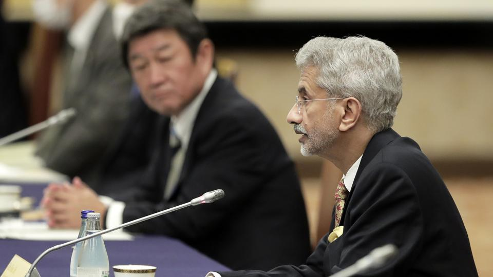 Subrahmanyam Jaishankar, India's foreign minister, speaks during the Quadrilateral Security Dialogue (Quad) ministerial meeting in Tokyo, Japan