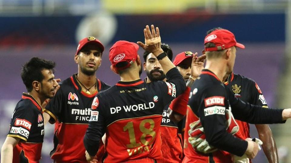 Photo of Royal Challengers Bangalore team from an IPL 2020 match in UAE